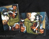 Serena Posh Fairy Sphynx Cat Vinyl Business ID Card Holder Myka Jelina