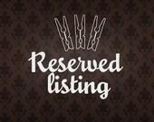 reserved for Tara