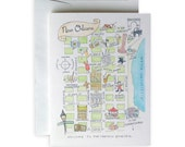 New Orleans Map Notecard Set