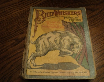 Antique Billy Whiskers Childs Book 1902 Popular Edition