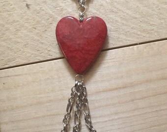 Big Heart Statement Necklace