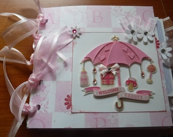 Baby Girl Premade 6x6  Paperbag Scrapbook  Great New Gift for Mom or Grandma