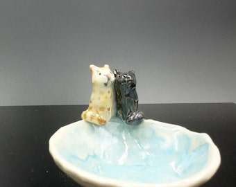Kitty Pair Trinket bowl