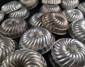 Vintage Lot of 20 Vintage Aluminum  Dessert Molds Jello Mold