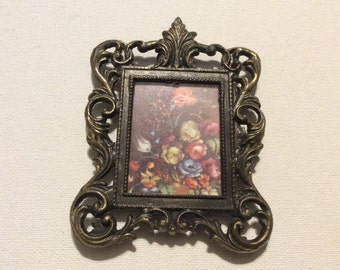 Vintage Made in Italy Ornate Picture Frame