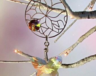 Butterfly Crystal Sun Catcher & Xmas Tree Ornament