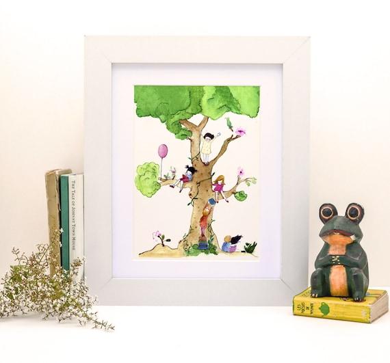 My Lovely Tree - PRINT - 4X6 - Nursery art - Nursery decor - Kids room decor - Children's art - Children's wall art - kids wall art