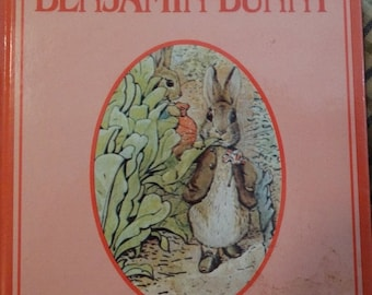 Valentines Day Sale 1986 Beatrix Potter, The Tale of Benjamin Bunny, Printed in Italy, Easter Rabbit, Peter Cottontail, Fantasy Easter Book,