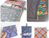butterfly wallet for women. grey fabric coin purse card organizer. cute vegan gold yellow butterflies. ladies teen girls gift