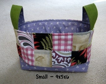 Rectangular Fabric Basket Organizer - Small and Large