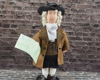 William Penn Colonial Doll Pennsylvania History Unique Miniature American Founder