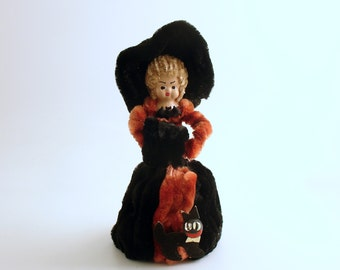 Vintage Halloween Decoration Witch Doll Rare