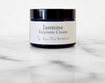 Jasmine Exquisite Facial Cream New Organic Formula - Natural Moisturizer for Dry, Maturing, Dry/Acneic and Sensitive Skin Types - 1.25 oz
