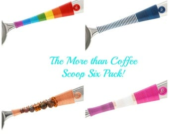 The More than Coffee Scoop 6 Pack - Stocking Stuffer - Hostess Gift - Wedding Favor - Candy Station - Bridal Party - Secret Santa- Gifts