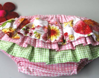 Gorgeous RUFFLED nappy cover pants sz3