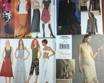 Butterick 6672 4028 6603 Vogue 8364 Lot of 4 Sewing Patterns Sizes 6-8-10  Design Your Own Tops blazers easy skirts and pants