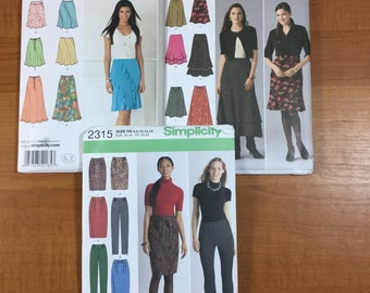 Simplicity 2185 2516 2315 Lot of 3 Sewing Patterns Sizes 6-8-10-12-14 Design Your Own Skirts Easy to Sew