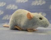 Pastel Blue Berkshire Rat Plushie
