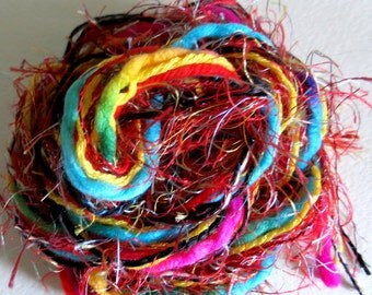 Fibers Lot - Dreamcatcher - Weave - Scrapbooking - Knitting - Crochet - Yarn Lot - Craft Supplies -Altered Art - Pocket Letter Supplies