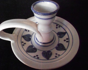 Candle Holder/ 1960s/ Handmade/ Vintage/ Pottery