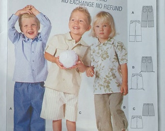 Burda Childrens Shirt Pattern 9793