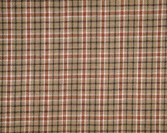 Plaid Homespun Fabric | Primitive Fabric | Cotton Fabric | Rag Quilt Fabric | Doll Making Fabric | Home Decor Fabric | 1 Yard