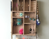 Small wooden Jewelry Organizer