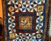 Steampunk original custom timeless pieced quilt textile designed by Susan Redstreake Geary