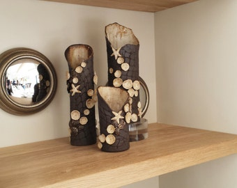 Large black and white ocean floor, coral reef fishnet vase. Coastal decor sculpture. Functional ceramic art by Chelsea Mae