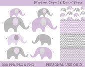 Cute Purple Elephant Clip...