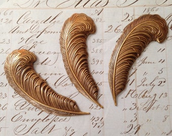 Brass Ox Large Feather Stamping (3)