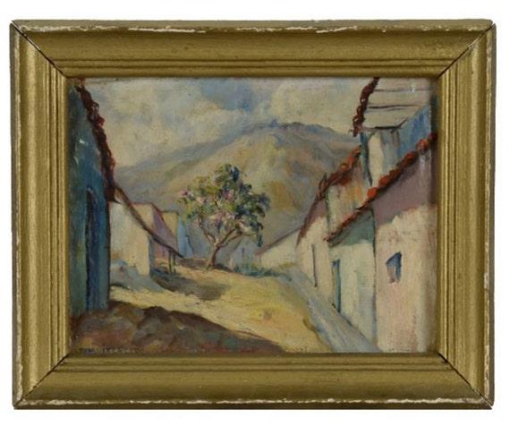 Joaquín Caicedo Oil Painting Landscape Venezuelan - Edo. Aragua