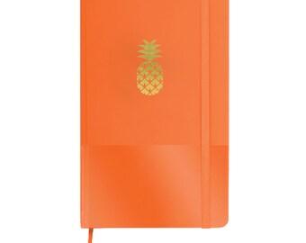 Pineapple - Gold Pineapple - Pineapple Journal - Sketchbook - Diary - Journal