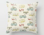 Vintage Camper Pillow cover Retro Pillow Cover Decorative Pillow Cover RV Pillow Old School Pillow