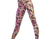 Pink Sugar Scull Pants Hot Yoga Workout Legging Low Rise SXY FITNESS Brand Item 8567 Sizes xxs-xxl (00-18 US)