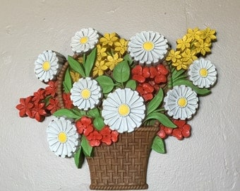 Syroco Basket of Flowers Wall Plaque