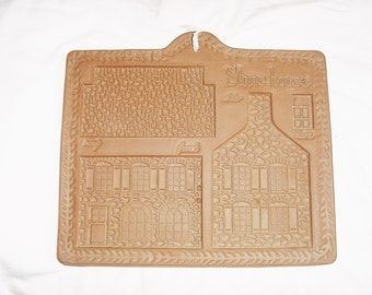 Vintage 80s Stone House Cookie Mold Gingerbread Hartstone