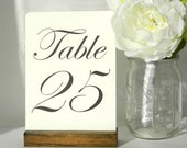 Rustic chic Wedding Table Number Holders (5inch)- Set of 10