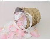 "Flower Girl Basket + Birch Flower Girl Basket with Ribbon Handle (5""T x 5""W)"