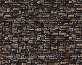 Row by Row 2016 Bricks stones Cotton Fabric Timeless Treasures 1 Yard