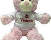 Personalized little valentine bear