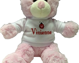 Personalized little valentine bear