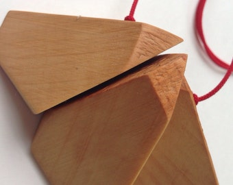 Fractal Recycled Huon Pine necklace by Mainichi