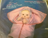 "Baby Doll Kit 16"" doll and puppet, Doll in Blanket Kit, Baby Dolls"
