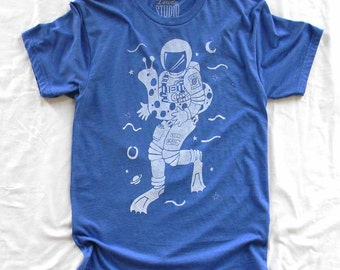 Space Guy - men's crew neck