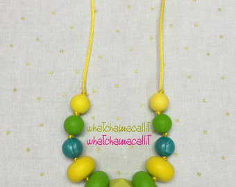 Teething Necklace, Food Grade Silicone Beads, Etsy Mama