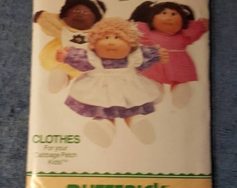 Cabbage patch Kids Butterick Pattern 6509