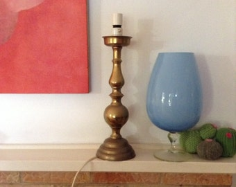 Solid Brass Table Lamp Base 1970's original brasswear