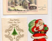 Eight Vintage Greeting Cards The Theme is Christmas Great for Altered Art Projects