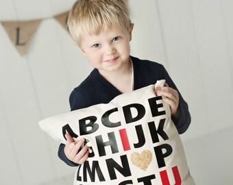ABC I Love U - Pillow Cover